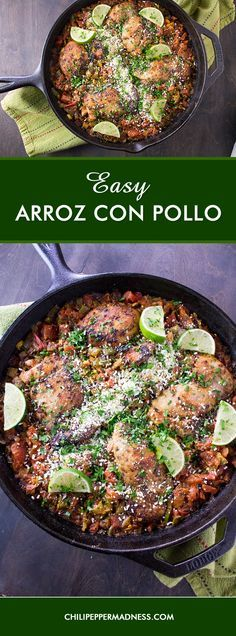 Easy Arroz con Pollo - A recipe for classic chicken and rice prepared Mexican style with a bit of extra spice, ala Chili Pepper Madness, ready in about 30 minutes. #YesYouCAN #AD #CollectiveBias