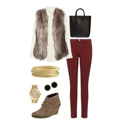 A fashion look from June 2012 featuring Equipment blouses, J Brand jeans and The Row tote bags. Browse and shop related looks.