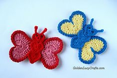 Craft Passions: Butterfly Applique free crochet pattern