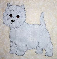 Darling Little Dogs - designs by Darcy Ashton digitized for machine applique by Anna's Awesome Applique Designs