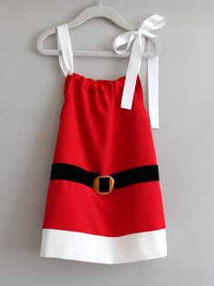 PIN TO WIN: Christmas Santa Claus Pillow Case Dresses for Girls Dress up and Christmas Gifts: Clothing #princesschristmas #pintowin