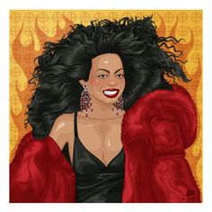 Ave Diana #illustration #digitalart #digitalillustration #ilustracao #dianaross #endlesslove #upsidedown #rock #rocknroll #randb #chainreaction #imcomingout #thesupremes #supremes #rhythmandblues #motown #soul #music #marceloalmeida #marceloalmeidaillustrations