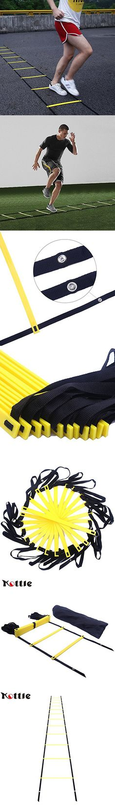 Kottle 19FT 12-Rung Sports Agility Ladder Speed Ladder for Speed, Football Fitness Feet Training