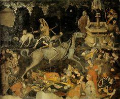 Il trionfo della morte (circa 1446)  Galleria Regionale Sicilia  Palazzo Abatellis  Palermo
