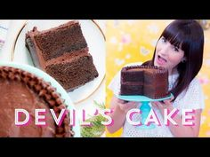 DEVIL'S CAKE aka BOLO DE CHOCOLATE com CHOCOLATE | I Could Kill For Dessert 70 #ICKFD - YouTube