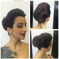 Usando o conceito de mulher moderna com um toque vintage, essa produção ficou maravilhosa! Que linda!  Penteado por Taylla @tayllabelarmina e Make por Sam Thiago @sams_souza #makeup #penteados #circuspamplona #circushair