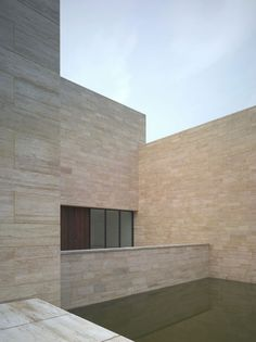 Liangzhu Museum China by David Chipperfield - Wall cladding in Iranian travertine stone