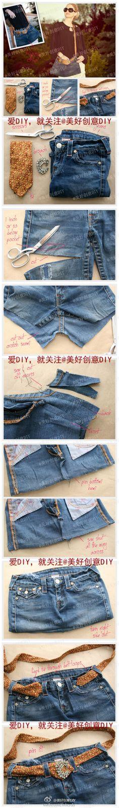 用旧的牛仔裤做一个包,好好看好时尚啊!!
