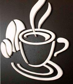 Quadro Decorativo Xícara de Cafe 80x60