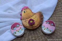 Perníky - Velikonoce III – celkav – album na Rajčeti Easter Cookies, Cookie Decorating, Food And Drink, Desserts, Tailgate Desserts, Deserts, Postres, Dessert, Plated Desserts
