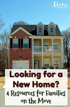 Looking for a New Home? 4 Resources for Families on the Move - Mom Does Reviews New Property, Property Listing, Family Units, Display Homes, For Sale Sign, Selling Real Estate, Finding A House, Model Homes, Home Builders