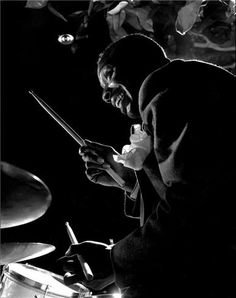 Be Bop Jazz Drummer: Kenny Clarke. House Drummer at Mintons Playhouse, New York Diahann Carroll, Jazz Artists, Jazz Musicians, John Lee Hooker, Billie Holiday, Louis Armstrong, Ella Fitzgerald, Sound Of Music, Good Music
