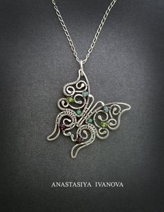 pendant butterfly, silver pendant, insects, jewelry, animal,handmade,