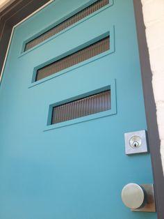 BACK DOOR  mid-century modern exterior house colors | The Mad Men door knob and square mid-century door escutcheon turned ...