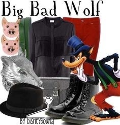 big bad wolf fashion | Via Disney 101