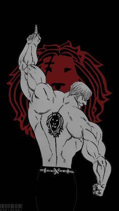 Black and white, Escanor, minimal, art, The Seven Deadly Sins wallpaper Otaku Anime, All Anime, Manga Anime, Escanor Seven Deadly Sins, Black And White Lion, Sea Wallpaper, Laptop Wallpaper, Trendy Wallpaper, Mobile Wallpaper