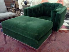 Milo Baughman Lounge Chair in Mohair
