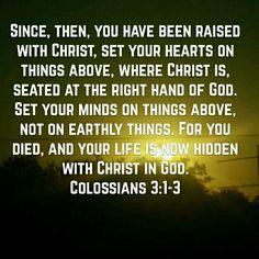 Colossians 3 :1-3