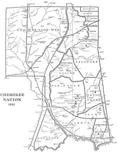 1895 Map of Cherokee Nation  http://genealogytrails.com/oka/1895mapcherokeenation.html