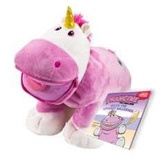 I just shopped for Prancine. The Unicorn who believes everyone has a little magic inside. Stuffies are more than just a loveable, huggable stuffed animal. With 7 secret pockets, they keep your child's treasures safe and sound.