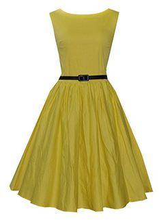 Anni Coco Women's Vintage 1950s Rockabilly Swing Dresses Yellow Small Anni Coco http://www.amazon.com/dp/B00VUXGAZA/ref=cm_sw_r_pi_dp_oy4lvb1J61K0K