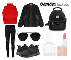 """Bomber Jacket"" by grequin ❤ liked on Polyvore featuring Alexander Wang, WearAll, NIKE, tenoverten and Rimmel"
