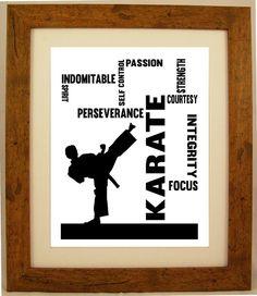 Personalised Martial Arts Kick Boxing / Karate / by ArtyAlphabet, £10.00