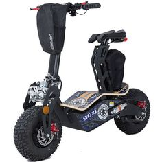 Mad 1600w 48v Electric Scooter By MotoTec   Blue