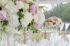 pink wedding decorations Poland, peonies wedding, glamour wedding