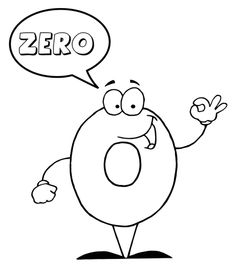 Number 0 Says ZERO coloring page from English Cartoon Numbers category. Select from 27001 printable crafts of cartoons, nature, animals, Bible and many more. Free Printable Numbers, Printable Crafts, Free Printable Coloring Pages, Free Printables, Numbers For Kids, Numbers Preschool, Preschool Crafts, Babysitting Kit, Adrenal Fatigue Treatment
