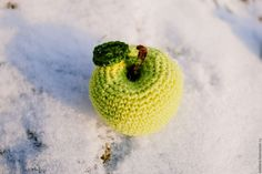 Купить Яблоки - зеленый, игрушка, игрушка для ребенка, игрушка развивающая, подарок, полушерсть, светло-зеленый