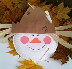 Scarecrow Craft with Paper Plate