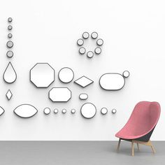 Doshi Levien's jewel-like mirrors for Danish brand for Hay