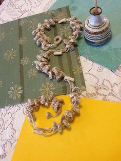 Beaded/Loop Handmade Crochet Necklace by joywelry2love on Etsy, $16.99