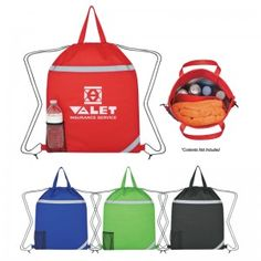 0eecb302bd0 Customized Reflecto-Insulated Polypropylene Drawstring Backpacks