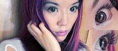 Living Anime Doll makeup tutorial!    La Carmina reviews Eyecandy's Japanese & Korean circle contact lenses. Have you ever tried color circle lens, for a kawaii gyaru look?    http://www.lacarmina.com/blog/2013/02/circle-contact-lenses-false-eyelashes-for-big-japanese-kawaii-eyes-eyecandys-lens-geo-eos/   circle contact lens, colored contacts, best circle lens, Circle contact lenses, false eyelashes, gyaru eyes, Japanese kawaii eyes, Eyecandy's Lens, japanese makeup, GEO, EOS, dolly lashes