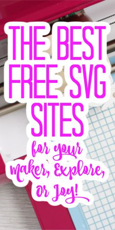 We are covering the best places to get free SVG files for your Cricut machine! Use these sources to get free cut files to make crafts of all types! Cricut Air 2, Cricut Help, Silhouette Cameo 4, Free Cut Files For Silhouette, 3d Cuts, Paper Cutting, Cricut Svg Files Free, Free Cricut Fonts, Cricut Apps