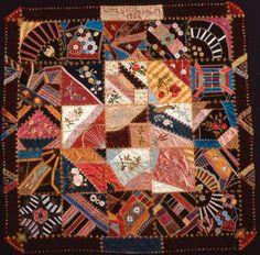 Crazy quilt by Lizzie M. Bradley, 1883-4