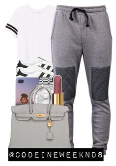 """""""12/9/15"""" by codeineweeknds ❤ liked on Polyvore featuring Victoria's Secret PINK, adidas Originals, Calvin Klein, Chanel and Hermès"""