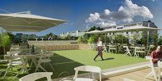 Roof Garden in Munich Munich, Dolores Park, Garden, Projects, Travel, Log Projects, Garten, Blue Prints, Viajes