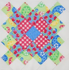 Granny Squares - Block 1 by luvtoquilt, via Flickr