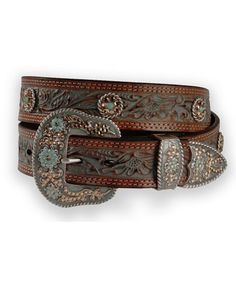 More bootleg belts for a subtle look. Team with acquamarine jewellery.