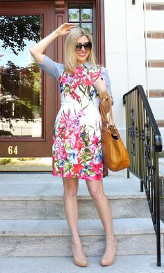 LT Floral Fit and Flare on The Boston Fashionista