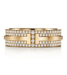 Bague T for Two en or jaune et diamants de Tiffany & Co.