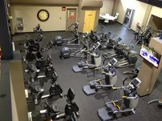 5c5c39527fa15f Cleveland Fitness Club offers stationary bicycles and elliptical machines