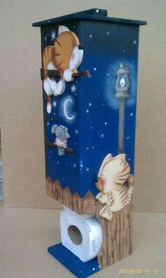 Gatos Hobbies And Crafts, Fun Crafts, Diy And Crafts, Tole Painting, Painting On Wood, Small Wood Projects, Diy Projects, Deco Paint, Country Paintings