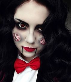 Halloween Make-up - Let's play a game. Nice idea for a Halloween costume! Creepy Costumes, Diy Halloween Costumes, Halloween Makeup, Halloween Party, Horror Movie Costumes, Zombie Makeup Easy, Halloween Clothes, Cheap Halloween, Halloween Painting