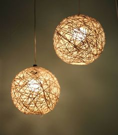 DIY Home Decorations - Chandelier with Hemp and Beach Ball