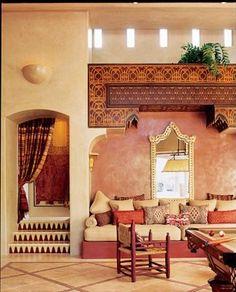 Moroccan living room accents. Love the mini garden on top. #Tadelakt #Moroccan #Living #Decor. www.mycraftwork.com/