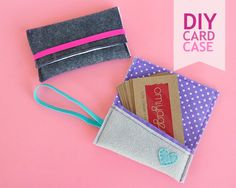 Show your business cards some love with a DIY business card case! Step by step photo tutorial by Marisa of Hirota Hiratsuka Simple Business Cards, Business Card Case, Business Card Holders, Diy Wallet, Card Wallet, Sewing Tutorials, Sewing Projects, Diy Projects, Sewing Crafts